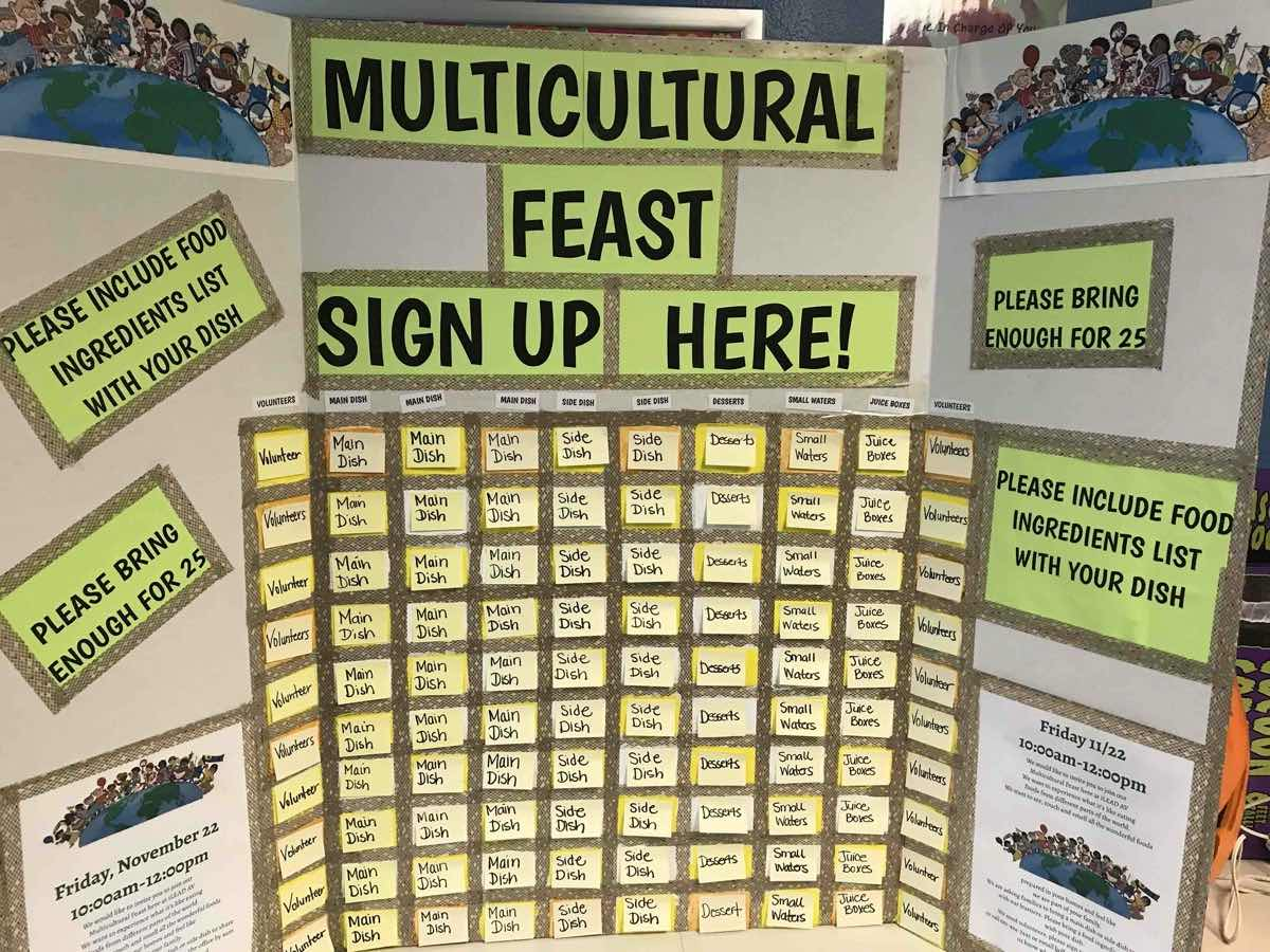 multicultural feast sign-up