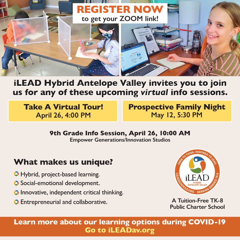 iLEAD Antelope Valley info session flyer