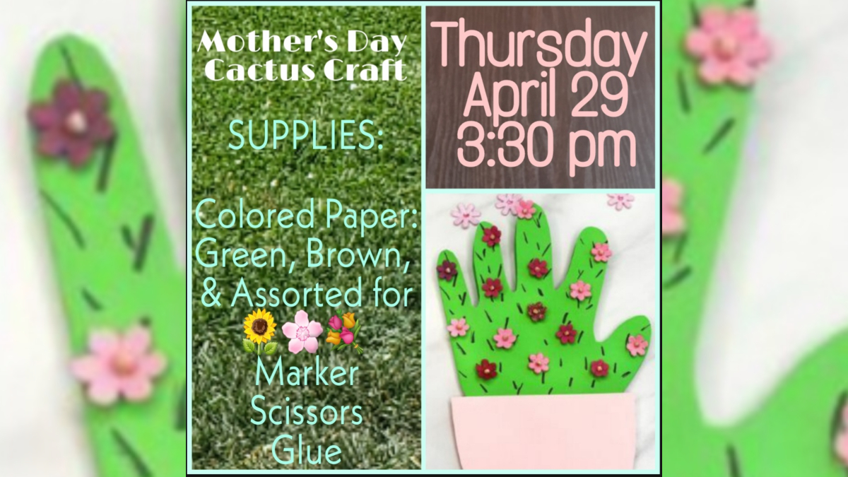 Mother's Day Craft Day flyer